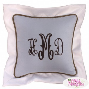 Monogrammed Throw Pillows http://thepinkmonogram.com