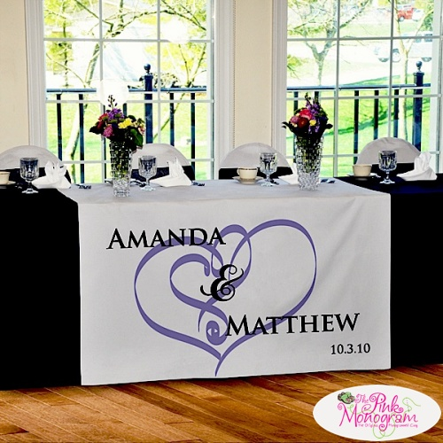 have runner  wedding wedding we personalized fabulous decorations make table wedding your   personalized to