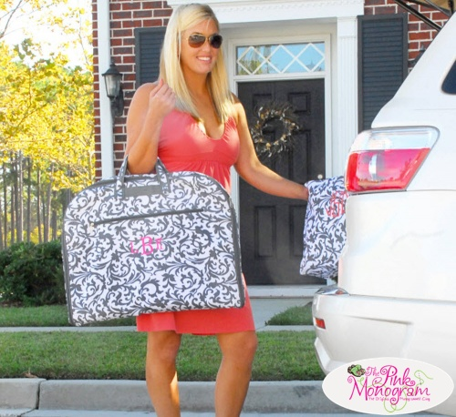 A Brides Must Have: Monogrammed Garment Bag | The Pink Monogram