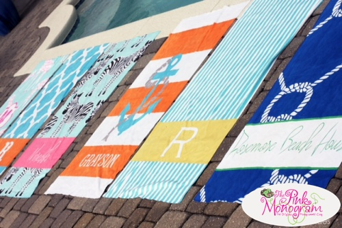 custom personalized monogrammed beach towels just in time for