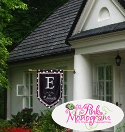 monogrammed house flags httpthepinkmonogramcom - Decorative House Flags