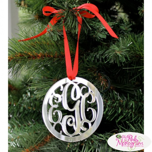 Beautiful Personalized Christmas Ornaments  The Pink Monogram