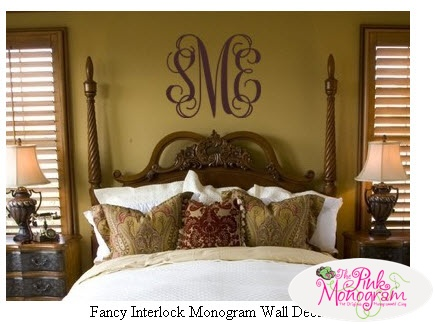monogrammed wall decal monogrammed