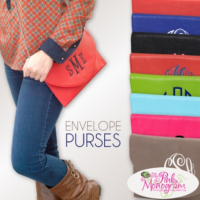 ysl monogram clutch - Amazing Monogrammed Clutches and Envelope Purses | The Pink Monogram