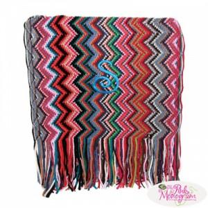 bohemian chevron scarf http://www.thepinkmonogram.com/48564/monogrammed/monogrammed+bohemian+chevron+scarf/
