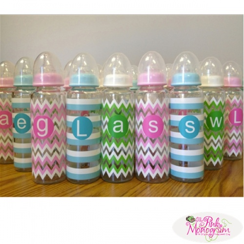 Beautiful personalized gifts for twins the pink monogram personalized baby bottles httpthepinkmonogram54879monogrammed negle Image collections