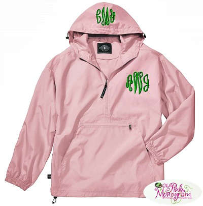 packable travel rain jacket http://www.thepinkmonogram.com/70216/monogrammed/monogrammed-pack-n-go-lightweight-pullover-in-10-colors/