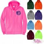 Unisex Full Zip Hooded Sweatshirt Jacket