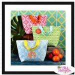 Colorful Monogrammed Insulated Lunch Tote