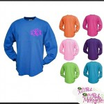 Spirit Shirts Monogrammed Long Sleeve Crew Tee Shirts