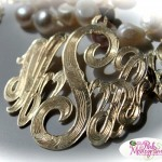 Stunning Monogrammed Necklace With Hand Engraved Details