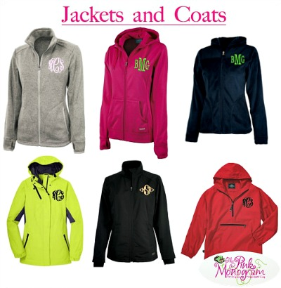 Monogrammed+Jackets+and+Coats in 6 colors