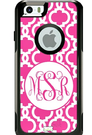 Pink Pattern monogrammed iphone case and cell phone case