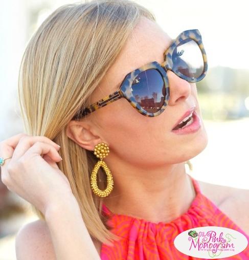 Glass Beaded Margo Earrings by Lisi Lerch
