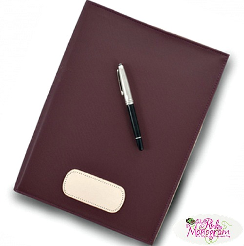 Executive Leather Gifts for Graduation Monogrammed Canvas and Leather Executive Folder