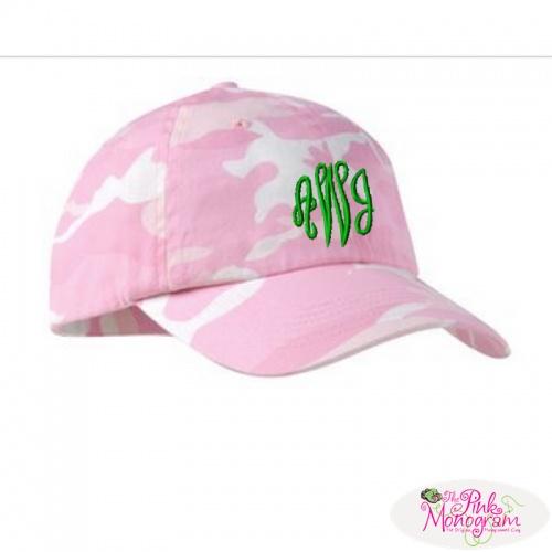 Monogrammed Camouflage Baseball Caps