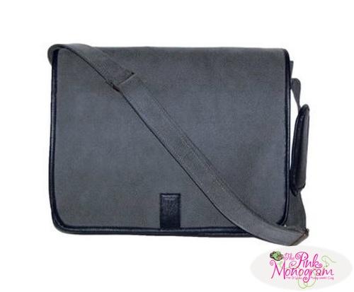 Monogrammed+Laptop+Messenger+Bag