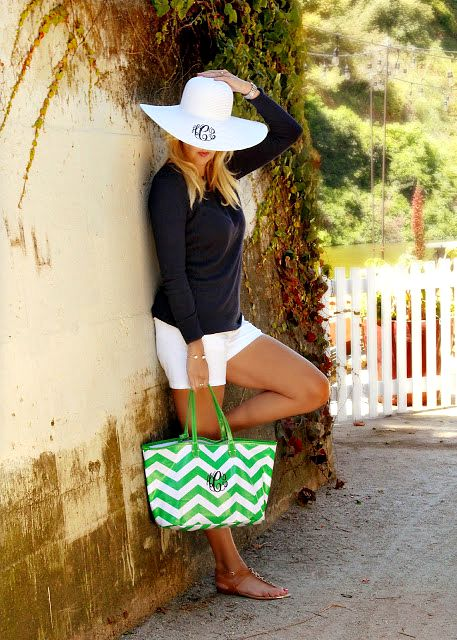 sfbaystyle hat tote monogrammed