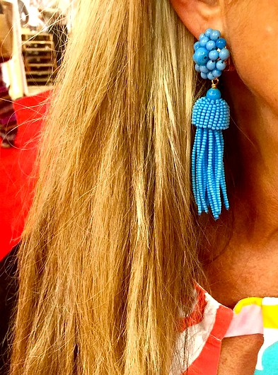 Beautiful Summer Jewelry Trends aqua tassel earrings