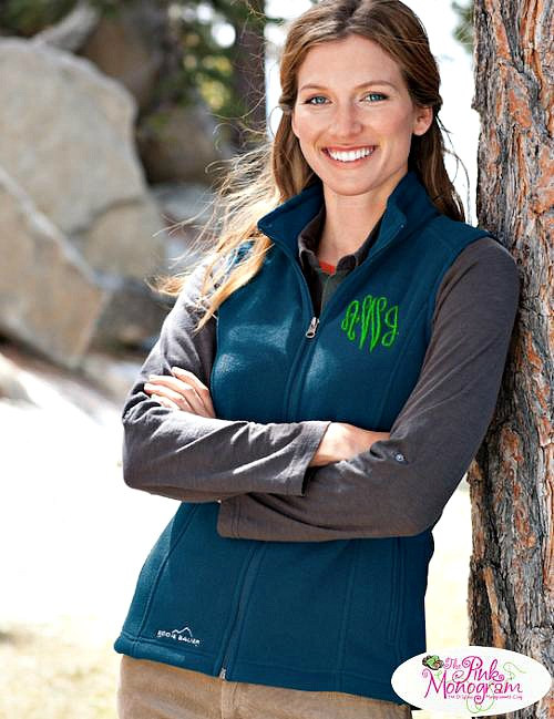 Keep Toasty in Monogrammed Jackets and Vests