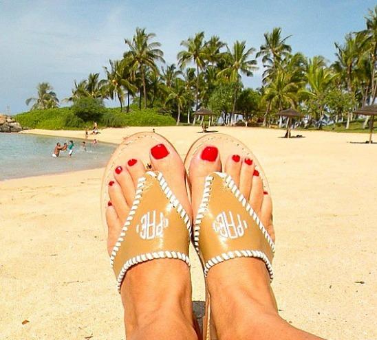 5 Spring Fashion Monogram Ideas palm beach sandals