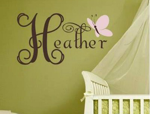 Decorating a Little Girl's Room in Shades of Pink - butterflies in pink