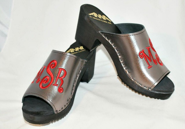 Hot Weather is Coming! Pull out the Peep Toes! Custom  leather peep toe clog sandals The Pink Monogram