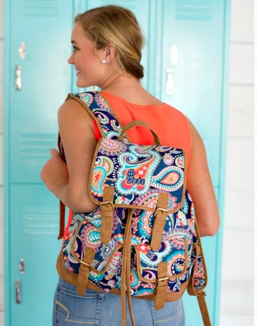 Paisley Patterned Backpack | thepinkmonogram.com