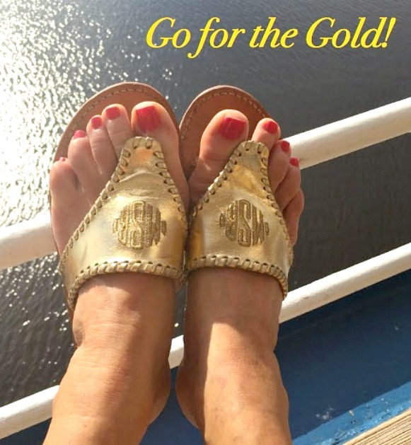 Gold Accessories for the Win - Palm Beach Sandals in Gold